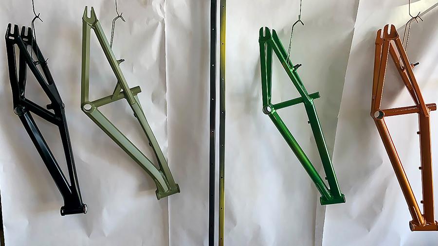 Bike Frames powder coated